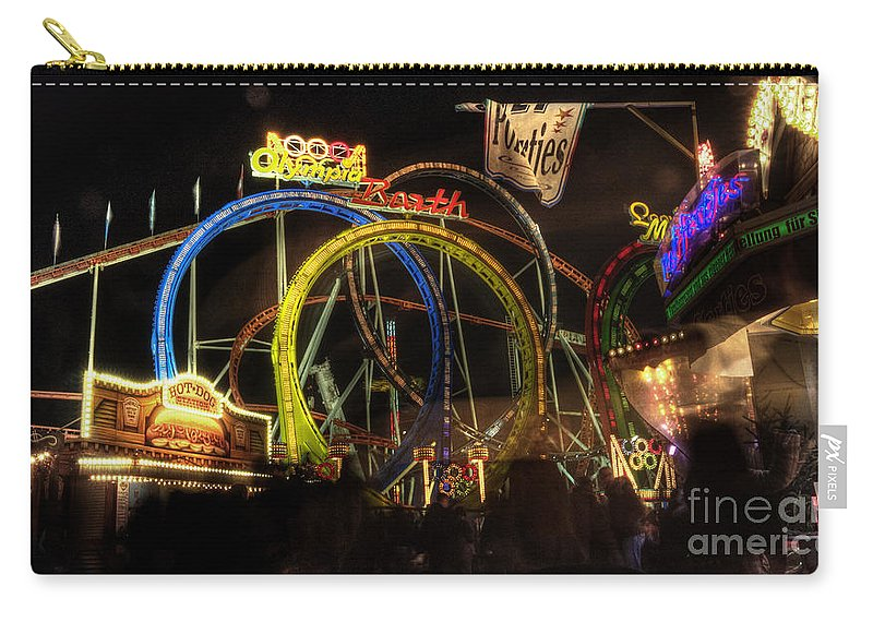 Rollercoaster Carry-all Pouch featuring the photograph Rollercoaster At The Dom by Rob Hawkins