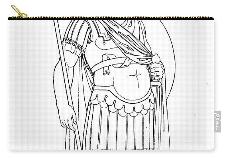4th Century Carry-all Pouch featuring the photograph Rome: Army General by Granger