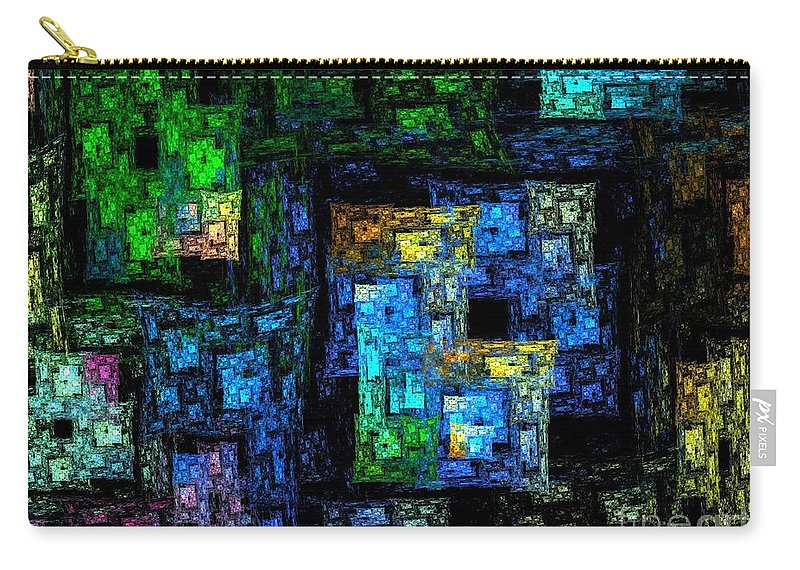 Rooftops Carry-all Pouch featuring the digital art Rooftops by Klara Acel