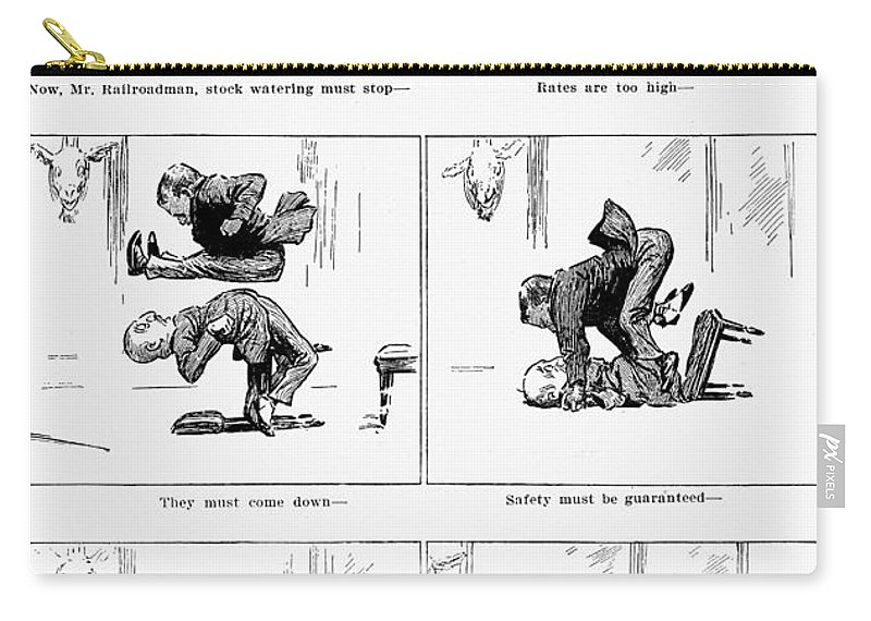 1905 Carry-all Pouch featuring the photograph Roosevelt Cartoon, 1905 by Granger