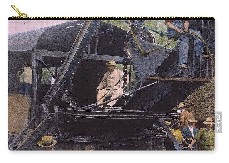 1906 Carry-all Pouch featuring the photograph Roosevelt: Panama Canal by Granger