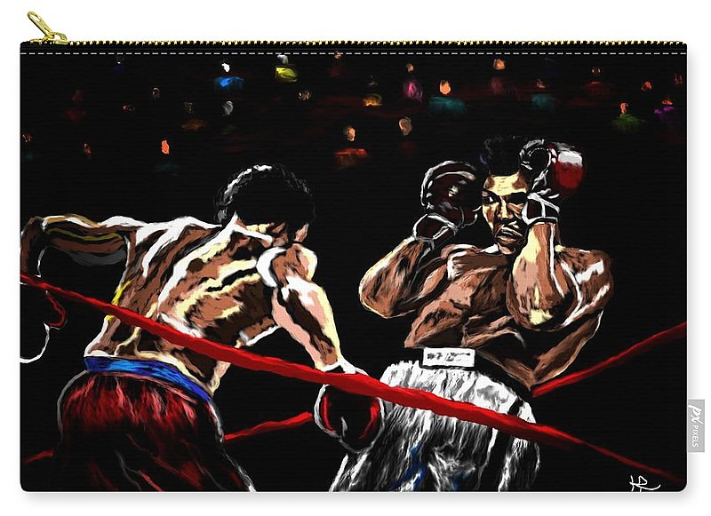 Rope A Dope Carry-all Pouch featuring the painting Rope A Dope by Herbert Renard