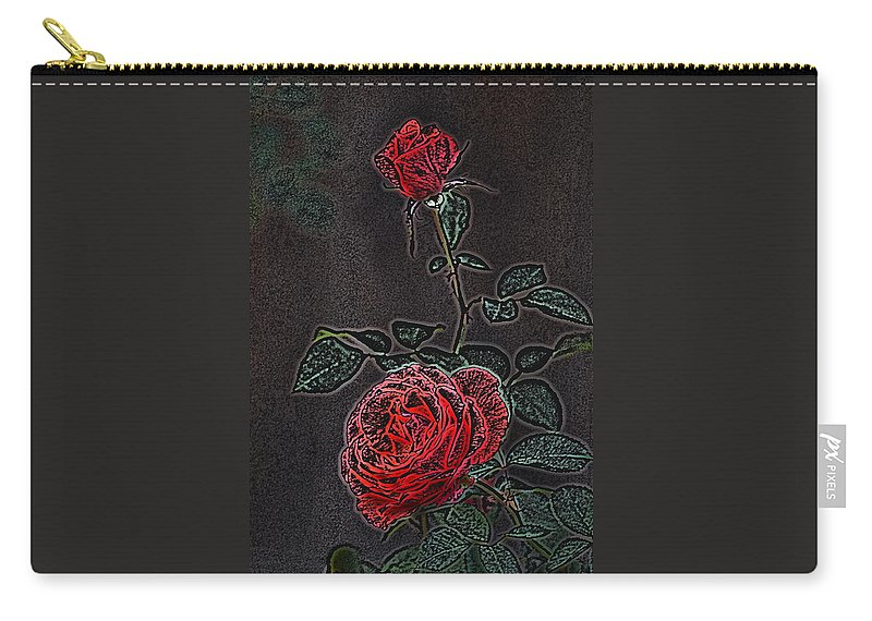Flower Carry-all Pouch featuring the photograph Rose 85 by Pamela Cooper
