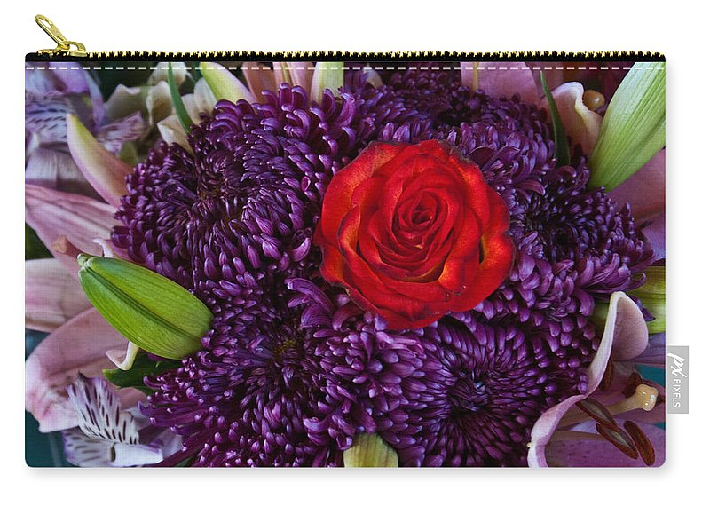 Rose Carry-all Pouch featuring the photograph Rose Center Of Attention by Douglas Barnett