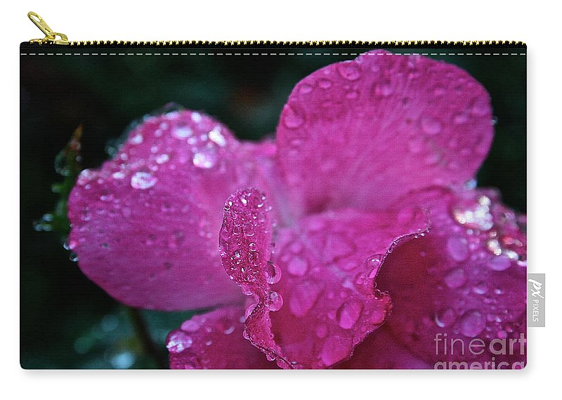 Landscape Carry-all Pouch featuring the photograph Rose Water Beads by Susan Herber