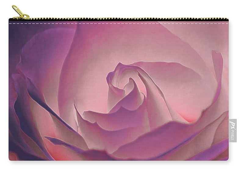 Macro Carry-all Pouch featuring the photograph Rosy Daydreamer by Linda Tiepelman
