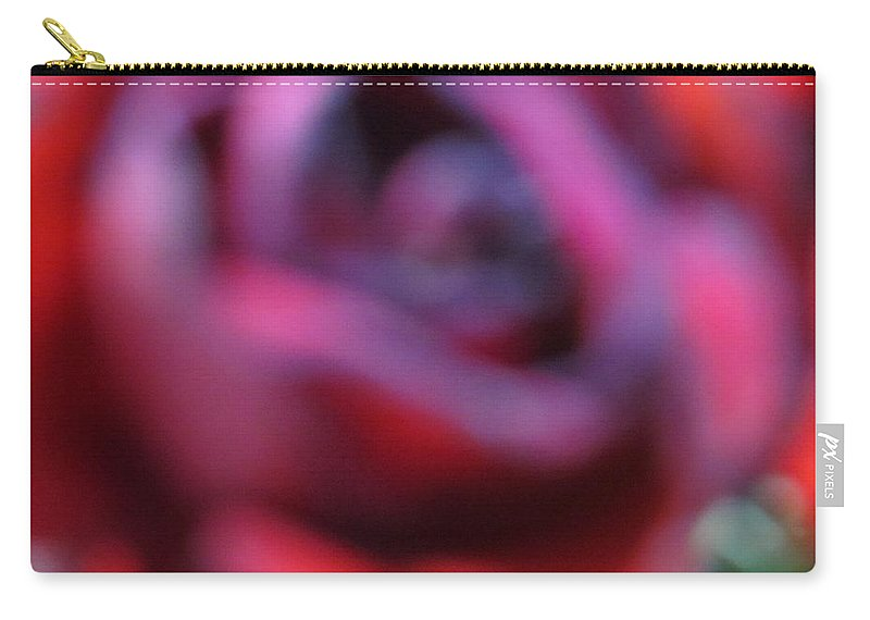 Red Dreams Carry-all Pouch featuring the photograph Rosy Illusions by Sonali Gangane