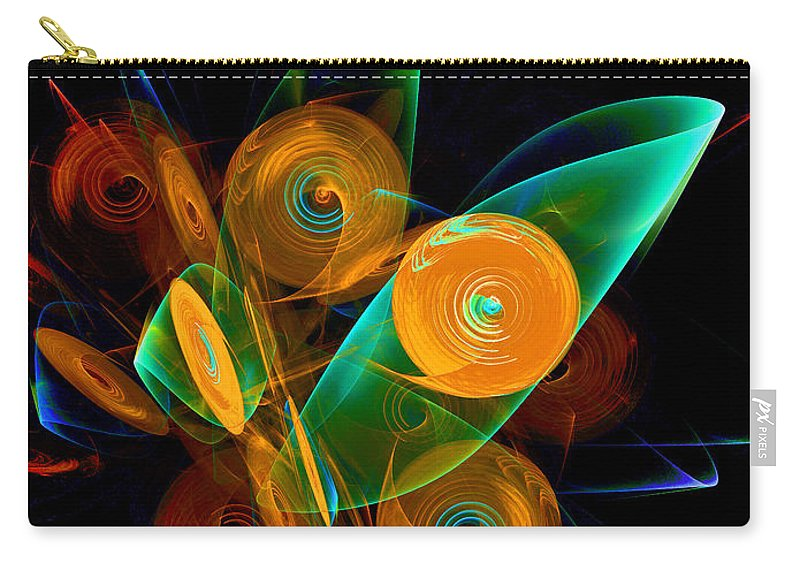 Wind Carry-all Pouch featuring the digital art Rotating By Wind by Klara Acel