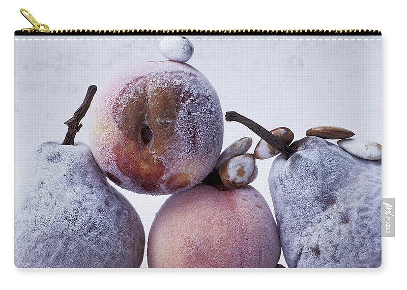Diet Carry-all Pouch featuring the photograph Rotten Pears And Apple by Bernard Jaubert