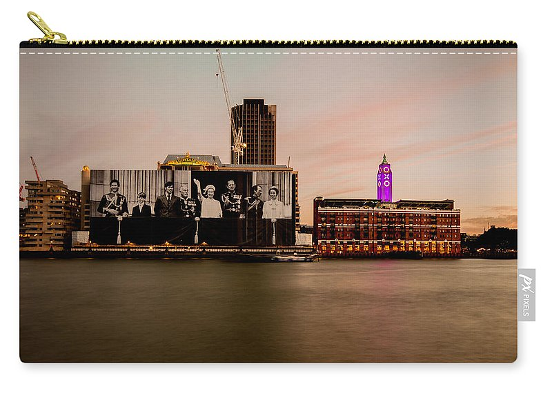 Oxo Tower Carry-all Pouch featuring the photograph Royal Family And Oxo Tower by Dawn OConnor