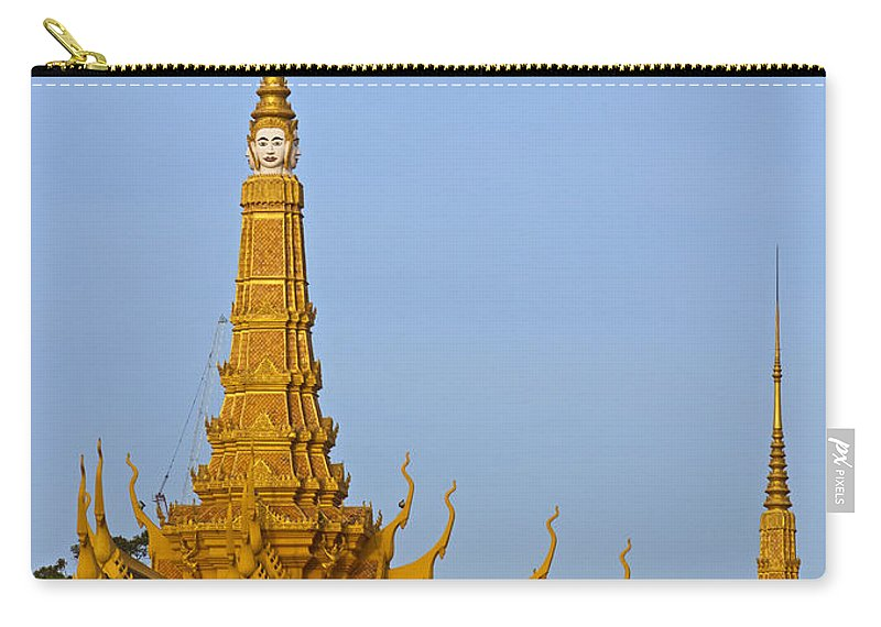 Asia Carry-all Pouch featuring the photograph Royal Palace Roof. by David Freuthal