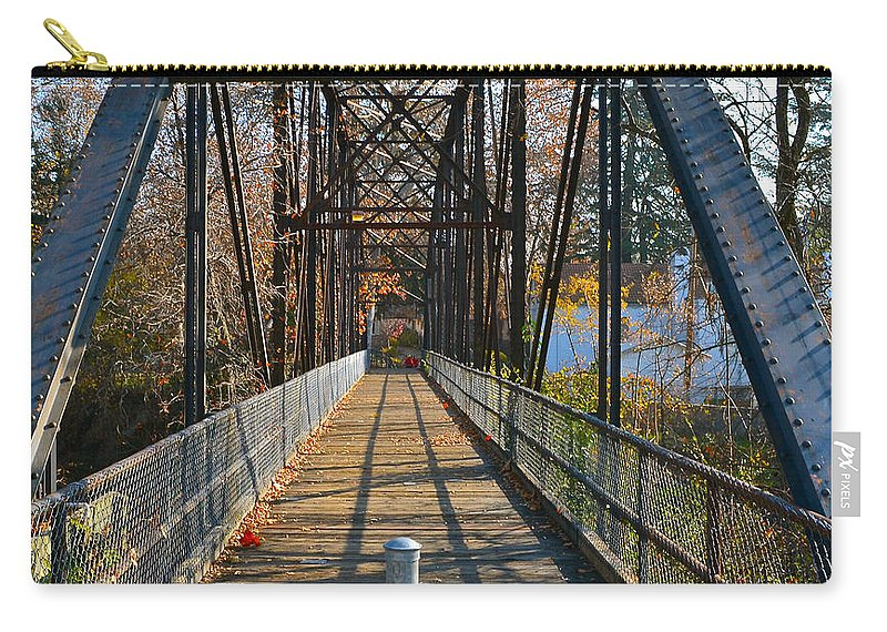 Bridge Carry-all Pouch featuring the photograph Rube Nelson Bridge 1 by Bill Owen