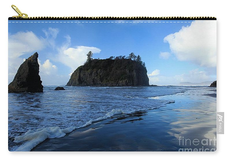 Ruby Beach Carry-all Pouch featuring the photograph Ruby Blues by Adam Jewell
