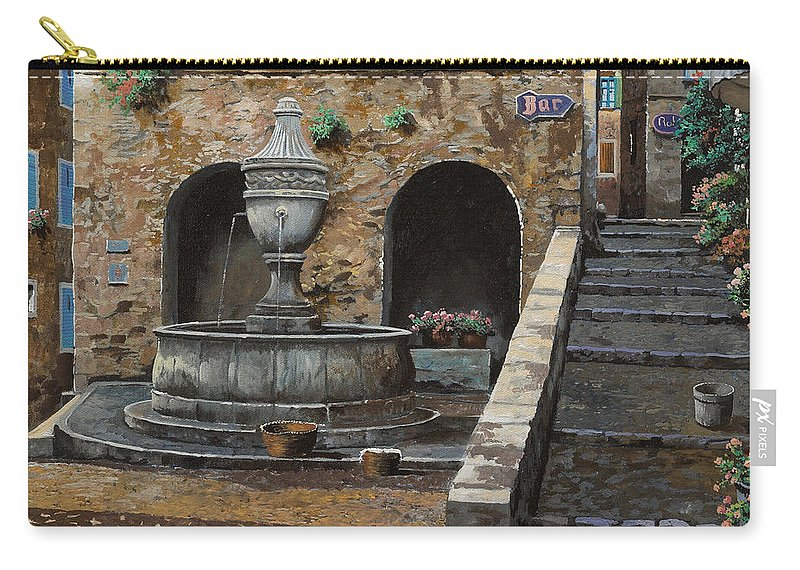 Cityscape Carry-all Pouch featuring the painting Rue Du Bresc A St Paul De Vence by Guido Borelli
