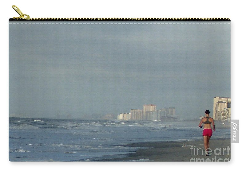 Ocean Carry-all Pouch featuring the photograph Beach Runner by Lydia Holly