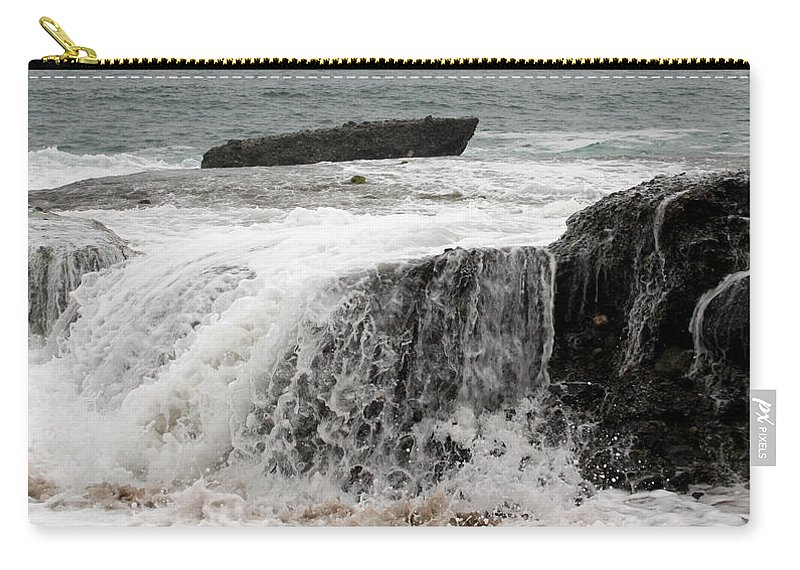 Beach Carry-all Pouch featuring the photograph Running Water by Karen Harrison