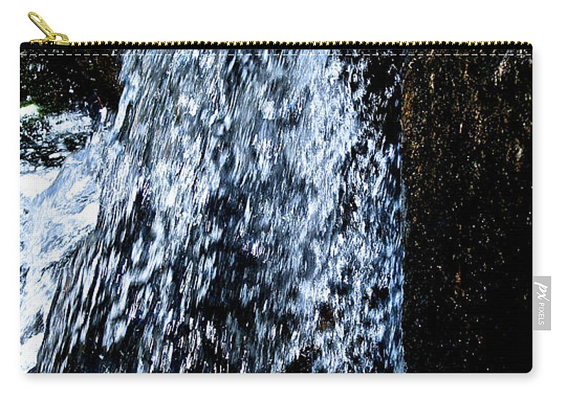 Water Carry-all Pouch featuring the photograph Running Water by Susan Herber