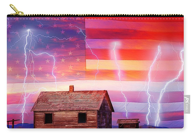 North Carry-all Pouch featuring the photograph Rural Rustic America Storm by James BO Insogna