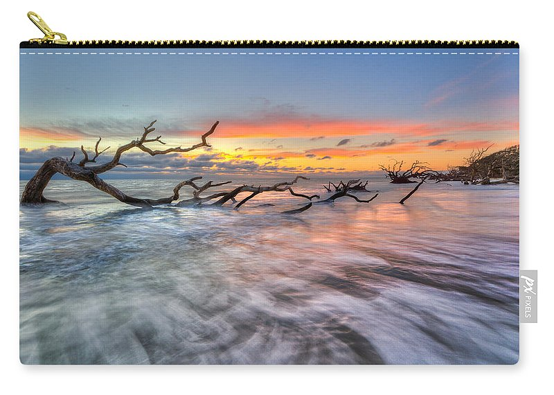 Clouds Carry-all Pouch featuring the photograph Rush by Debra and Dave Vanderlaan