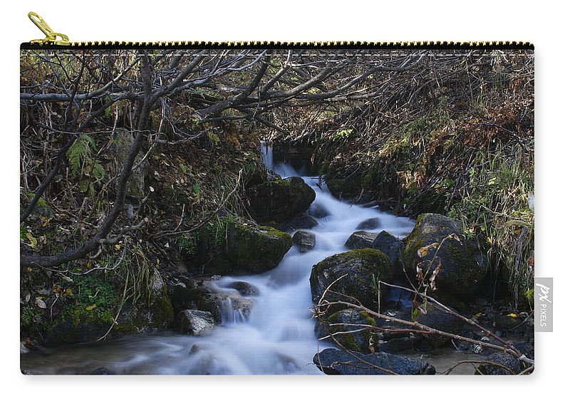 Doug Lloyd Carry-all Pouch featuring the photograph Rushing Creek by Doug Lloyd