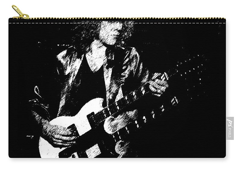 Rock Art Carry-all Pouch featuring the photograph Rushing In Spokane 1978 Sketch by Ben Upham