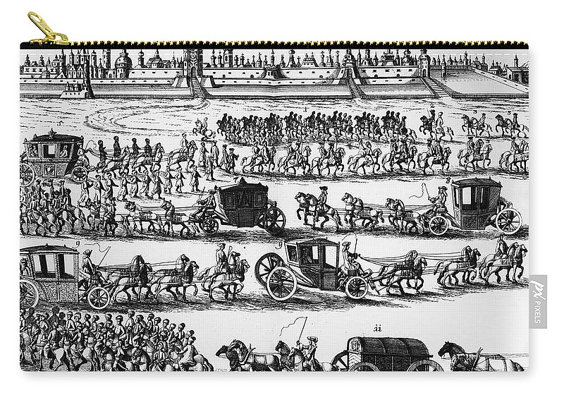 1698 Carry-all Pouch featuring the photograph Russia: Procession, 1698 by Granger