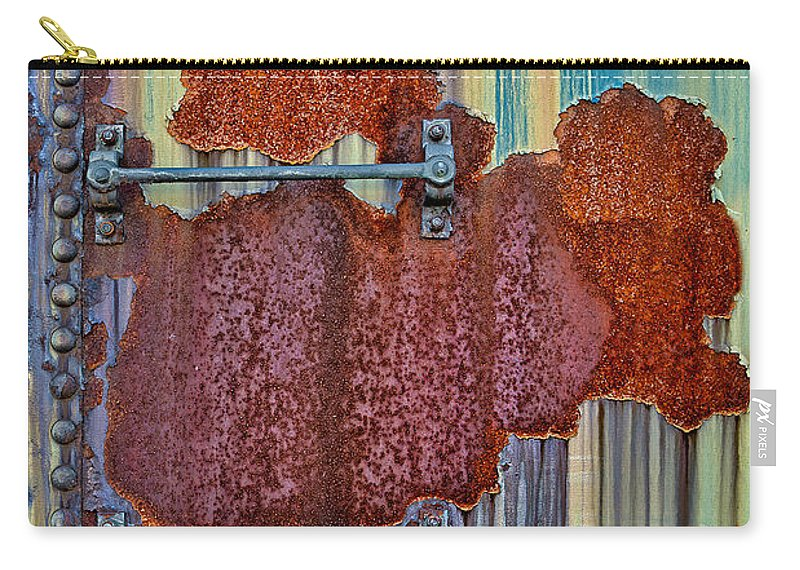 Rust Carry-all Pouch featuring the photograph Rusted Art by Susan Candelario