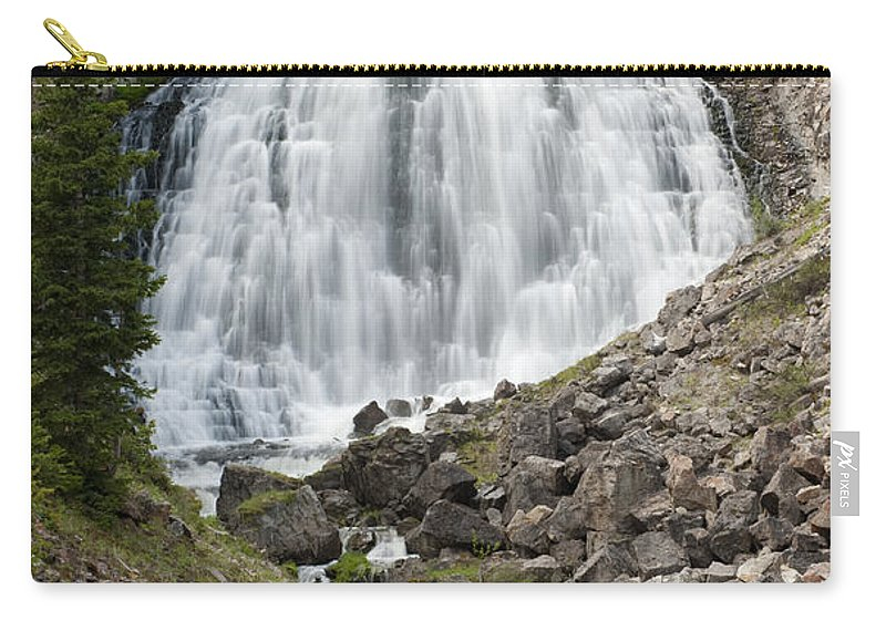 Bronstein Carry-all Pouch featuring the photograph Rustic Falls Yellowstone by Sandra Bronstein