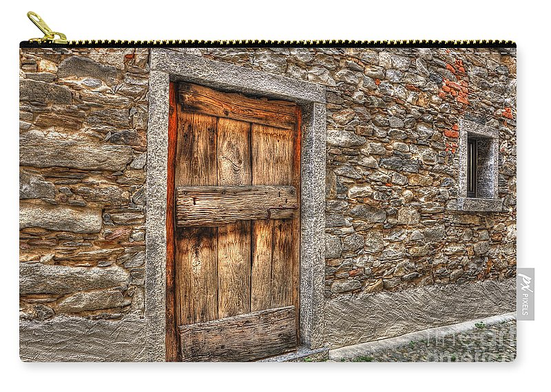 Rustic Stone House With Old Carry All Pouch For Sale By Mats Silvan - 100-wood-and-stone-house