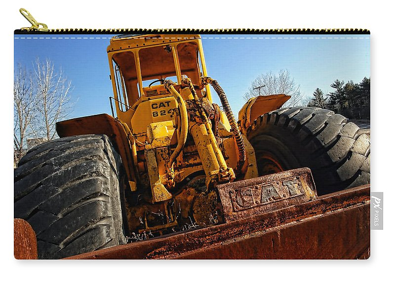 Caterpillar Carry-all Pouch featuring the photograph Rusty Gold Cat 824 by Gordon Dean II