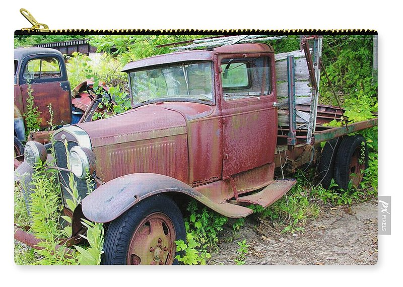 Old Truck Carry-all Pouch featuring the photograph Rusty Is Retired by Sherman Perry
