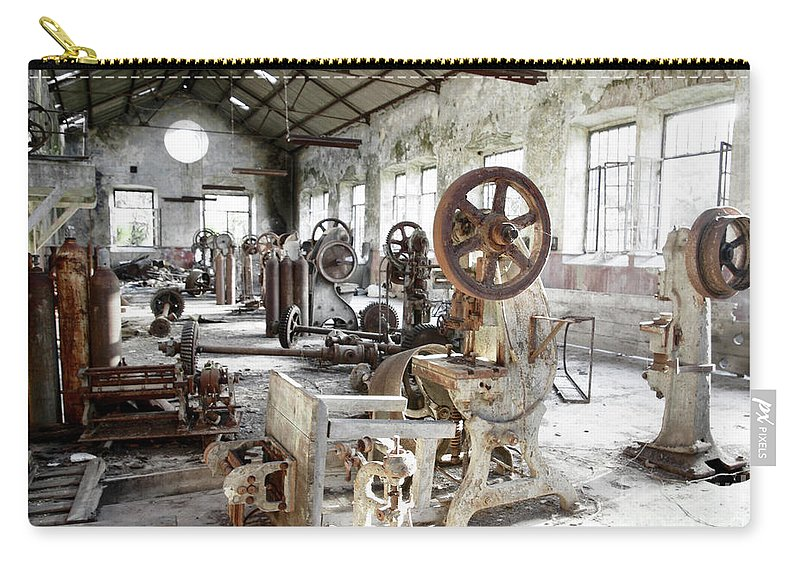 Abandoned Carry-all Pouch featuring the photograph Rusty Machinery by Carlos Caetano