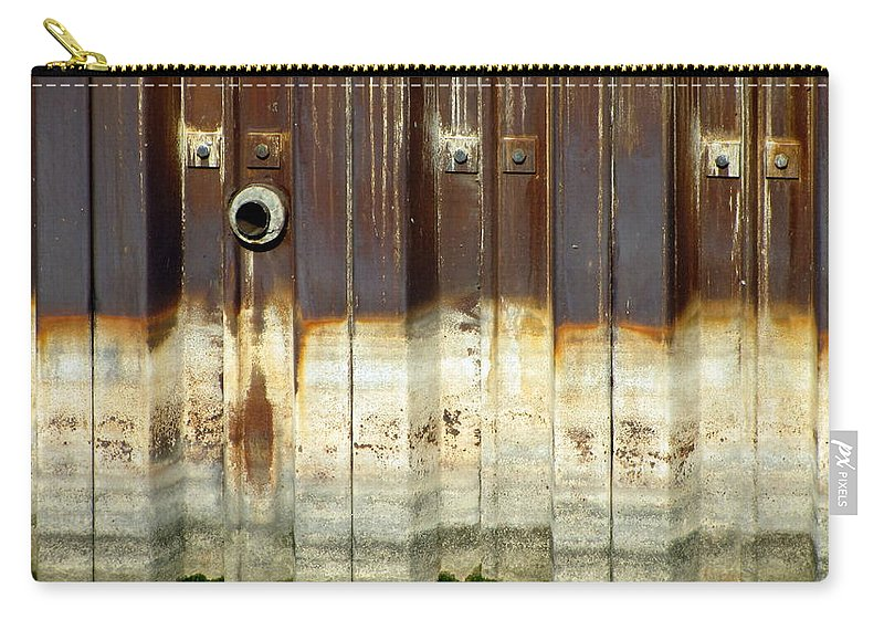 Concrete Carry-all Pouch featuring the photograph Rusty Wall In The City by Anita Burgermeister