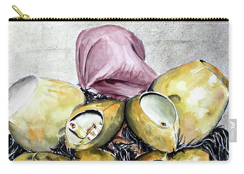 Sassu Carry-all Pouch featuring the painting Sa Carriga by Giovanni Marco Sassu