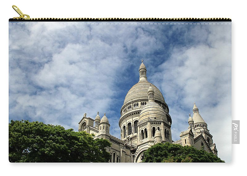 Sacre Coeur Paris Carry-all Pouch featuring the photograph Sacre Coeur by Andrew Fare