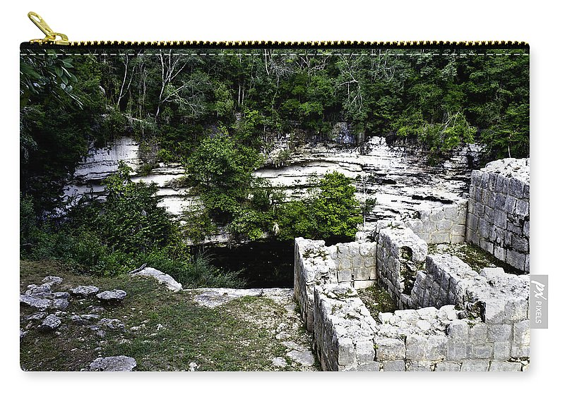 Chichen Itza Carry-all Pouch featuring the photograph Sacred Cenote by Ken Frischkorn