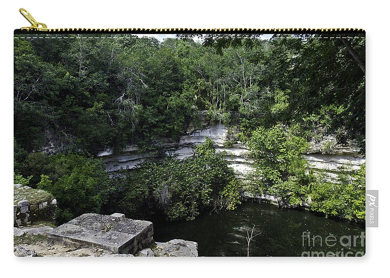 Chichen Itza Carry-all Pouch featuring the photograph Sacred Well by Ken Frischkorn