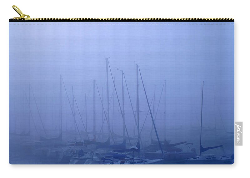 Sailboat Blues Carry-all Pouch featuring the photograph Sailboat Blues by Randall Branham