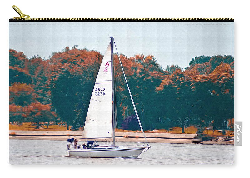Sailing Day Carry-all Pouch featuring the photograph Sailing Day by Bill Cannon