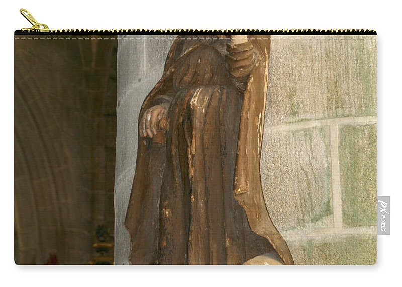 Saint Carry-all Pouch featuring the photograph Saint Anthony by Diana Haronis