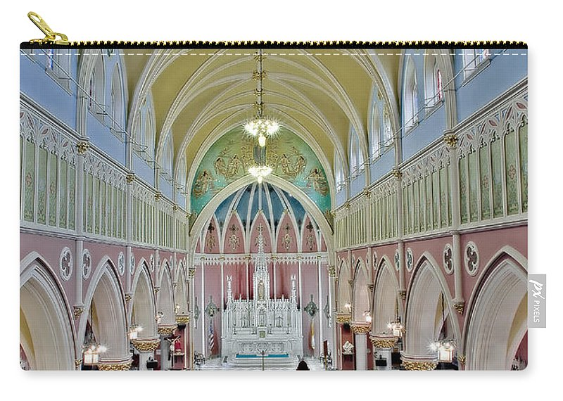 Italian Carry-all Pouch featuring the photograph Saint Bridgets Gothic Church by Susan Candelario