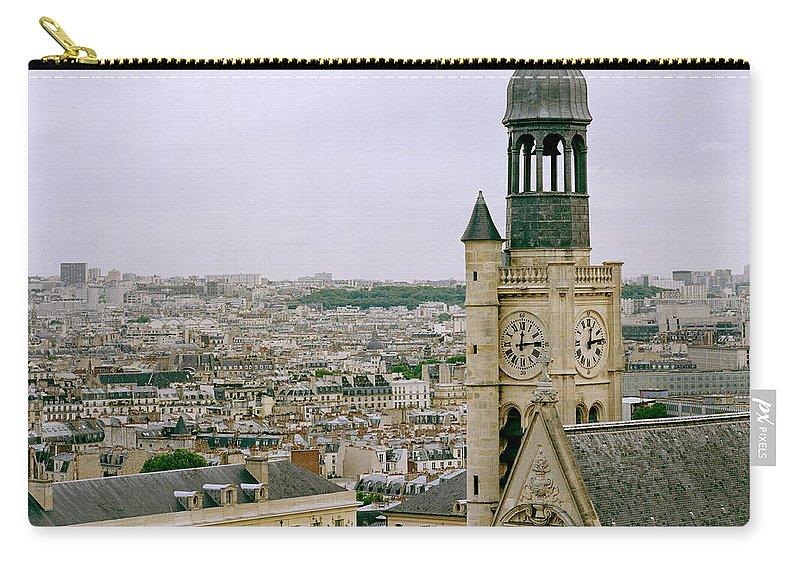 Paris Carry-all Pouch featuring the photograph Saint Etienne Du Mont by Shaun Higson
