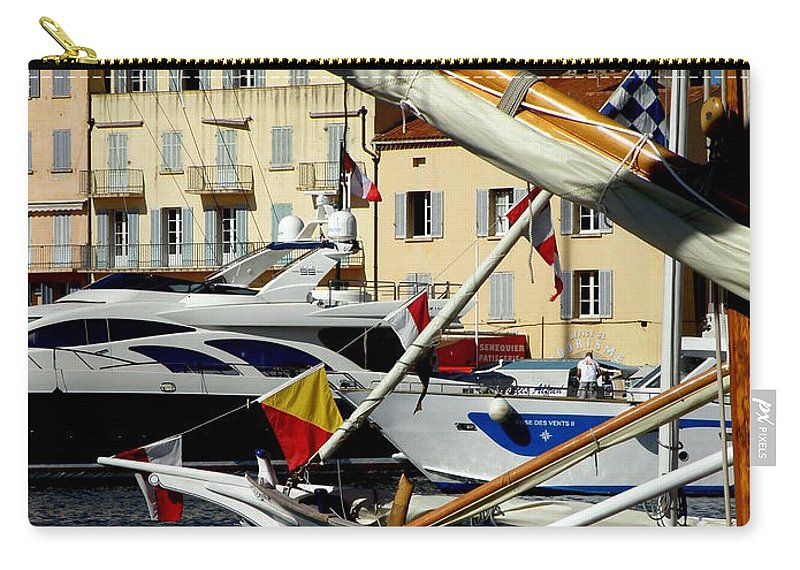 Boats Carry-all Pouch featuring the photograph Saint Tropez Harbor by Lainie Wrightson