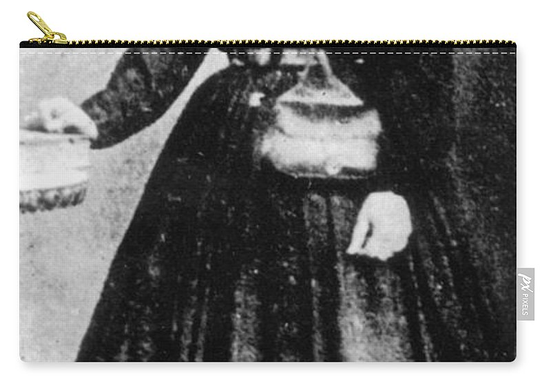 19th Century Carry-all Pouch featuring the photograph Sally Tompkins (1833-1916) by Granger