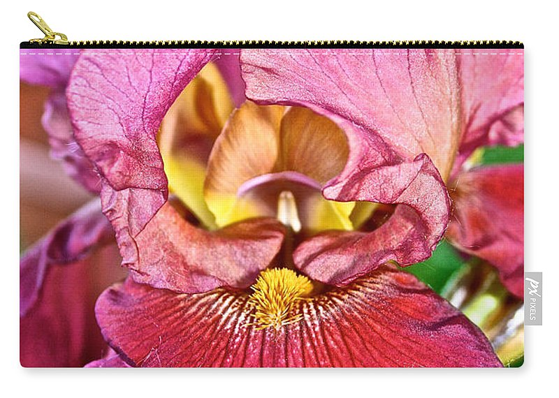 Outdoors Carry-all Pouch featuring the photograph Salmon Ruffles by Susan Herber