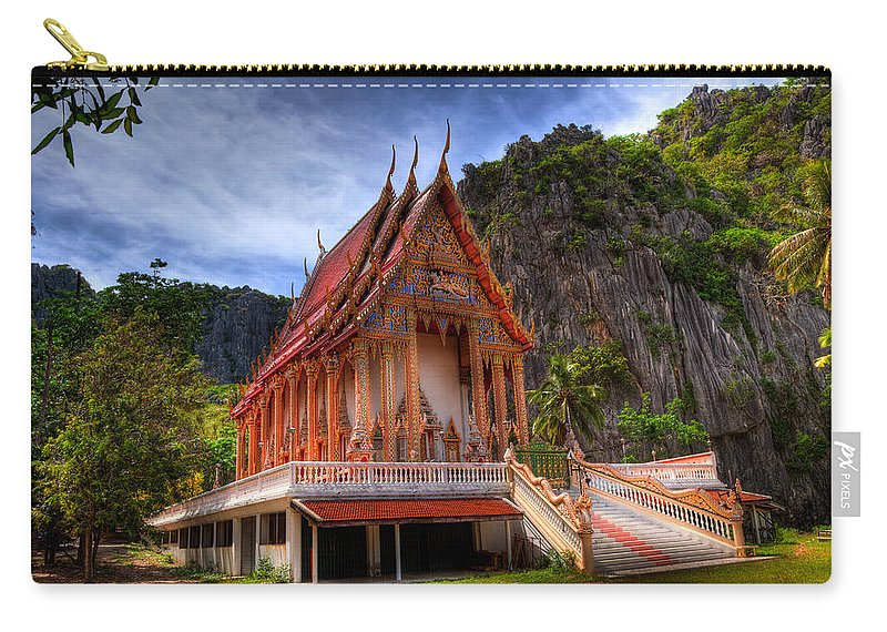 Temple Carry-all Pouch featuring the photograph Sam Roi Yot Temple by Adrian Evans