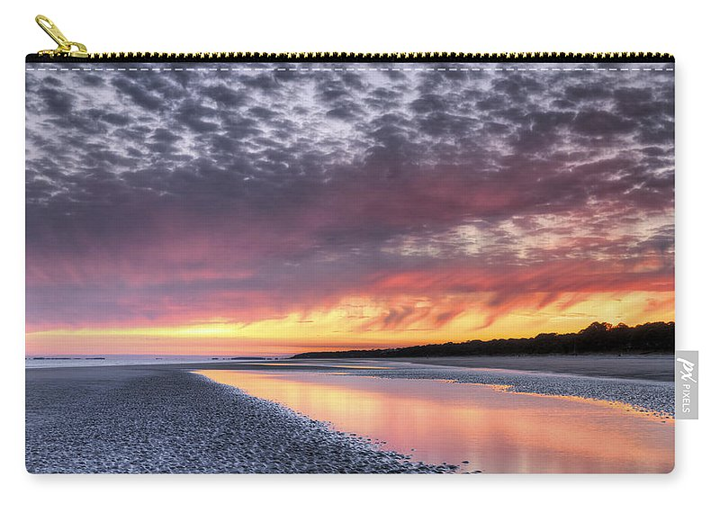 Beach Carry-all Pouch featuring the photograph Same Night Six Thirteen Pm by Phill Doherty