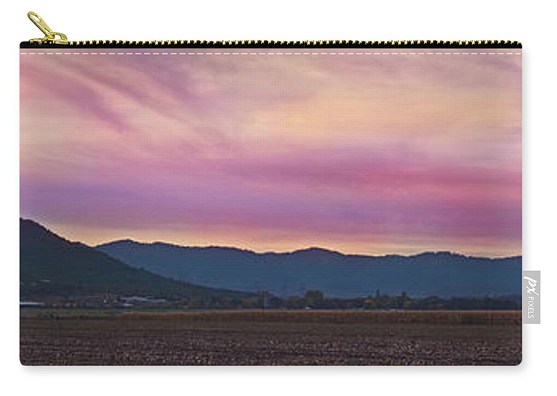 Panorama Carry-all Pouch featuring the photograph Sams Valley Panoramic Sunset by Mick Anderson