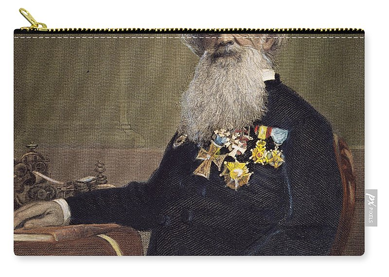 19th Century Carry-all Pouch featuring the photograph Samuel F.b. Morse (1791-1872) by Granger