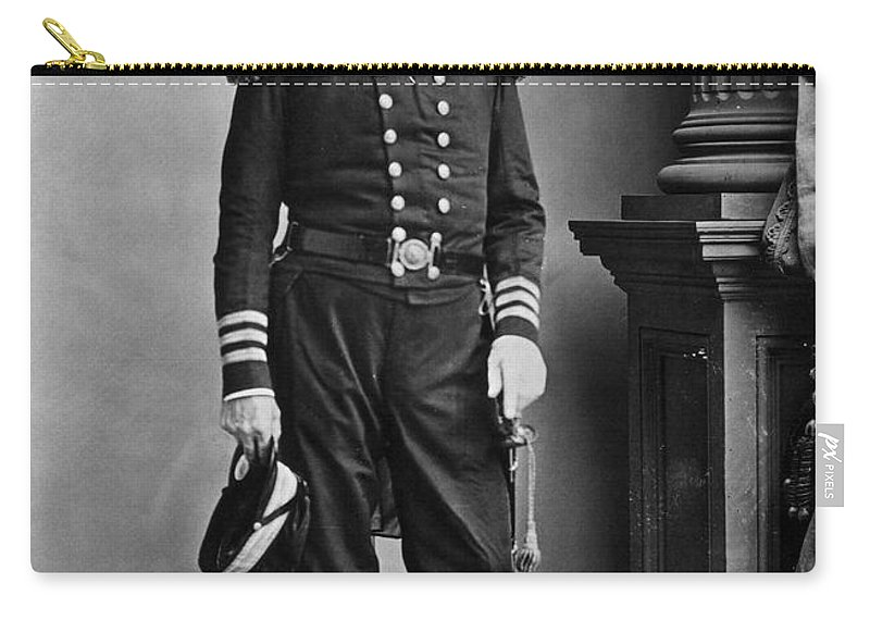 19th Century Carry-all Pouch featuring the photograph Samuel Francis Du Pont by Granger